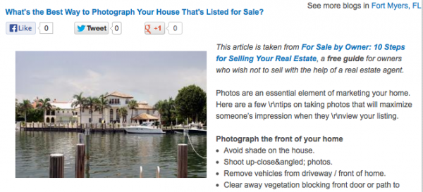 Whats the best way to photograph your house for sale that's listed for sale?