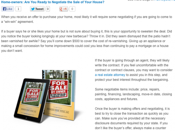 Are you ready to negotiate the sale of your house?